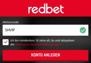aktionscode redbet 2017